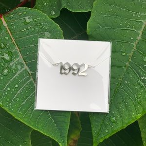 "NEW!! ☘️ Birth Year Necklace ""1992"""